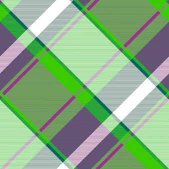 Padrão sem emenda xadrez irlandês verde moderno
