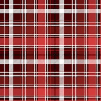 Padrão sem emenda xadrez vermelho diagonal abstrata