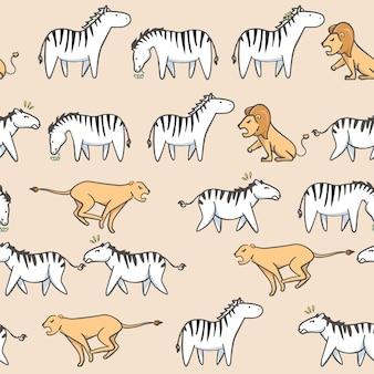 Padrão sem emenda zebra bonito