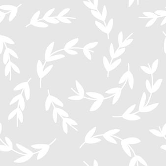 Padrão simples de fundo branco ramos