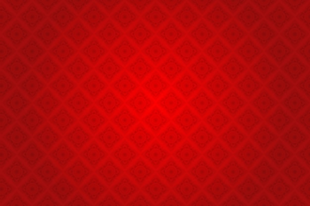 Padrão tailandês de seda vermelha