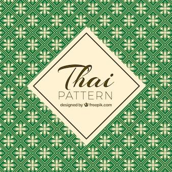 Padrão tailandês verde com estilo elegante