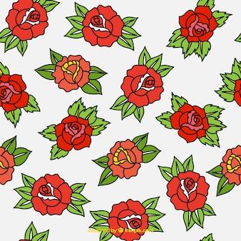 Padrão tatuado de rosas