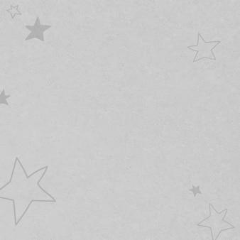 Padrão texturizado de estrelas desenhadas a mão cinza para crianças