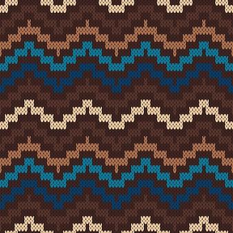 Padrão tradicional da ilha de fair. ornamento de tricô sem costura