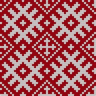 Padrão tradicional de tricô do báltico