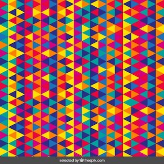 Padrão triangular colorido