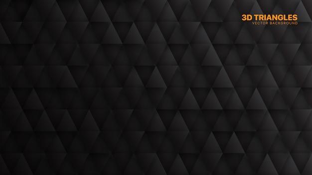 Padrão triangular minimalista preto abstrato