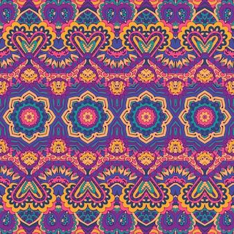 Padrão tribal de formas geométricas coloridas sem costura