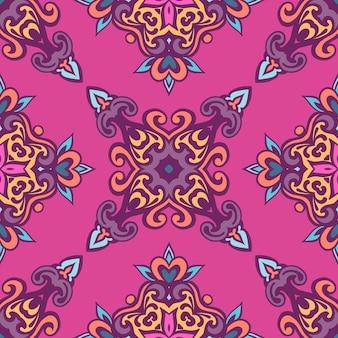 Padrão tribal geométrico étnico festivo colorido abstrato Vetor Premium