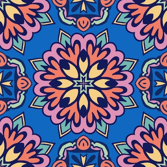 Padrão tribal geométrico étnico festivo colorido abstrato