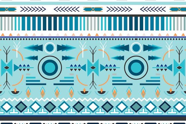 Padrão tribal, vetor de fundo, design azul transparente