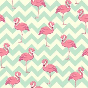 Padrão tropical flamingo