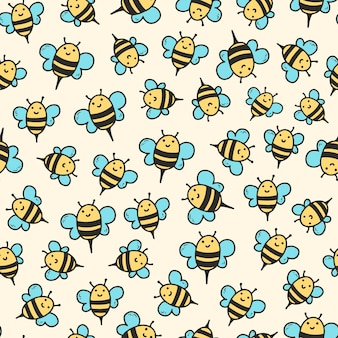 Padrão uniforme com abelhas