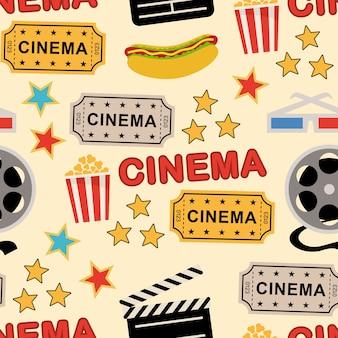 Padrão uniforme com elementos de cinema