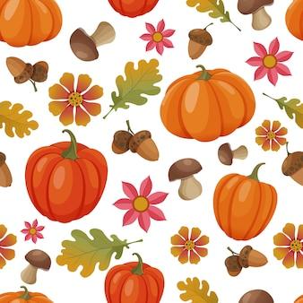 Padrão uniforme com elementos de outono