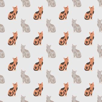 Padrão uniforme com gatos bonitos para papel de embrulho e embalagem de têxteis