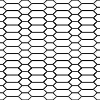 Padrão uniforme com linha hexagonal