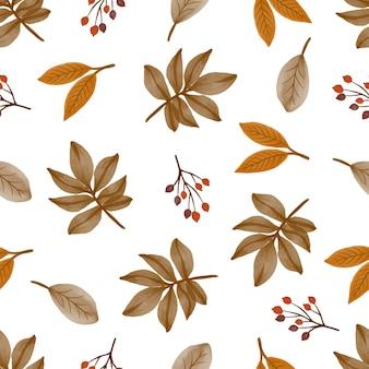 Padrão uniforme de outono para design de plano de fundo e tecido