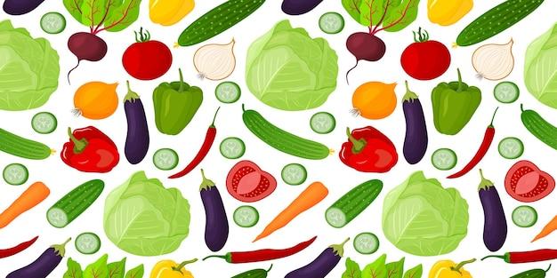 Padrão uniforme de vegetais