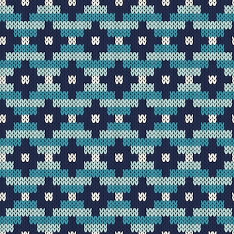 Padrão uniforme na textura de malha de lã