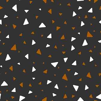 Padrão uniforme. padrões geométricos. triângulos. pequenas formas abstratas são organizadas aleatoriamente. ilustração vetorial