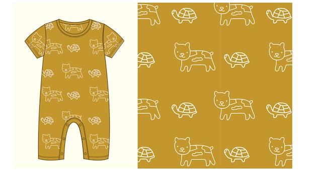 Padrão uniforme para bebê e criança