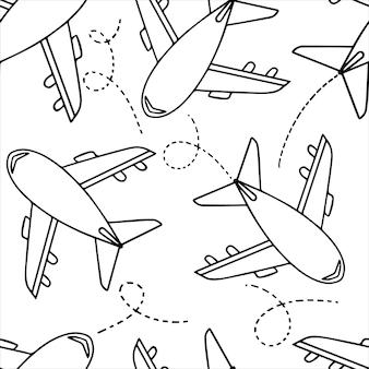 Padrão uniforme - rabiscar aviões com formas