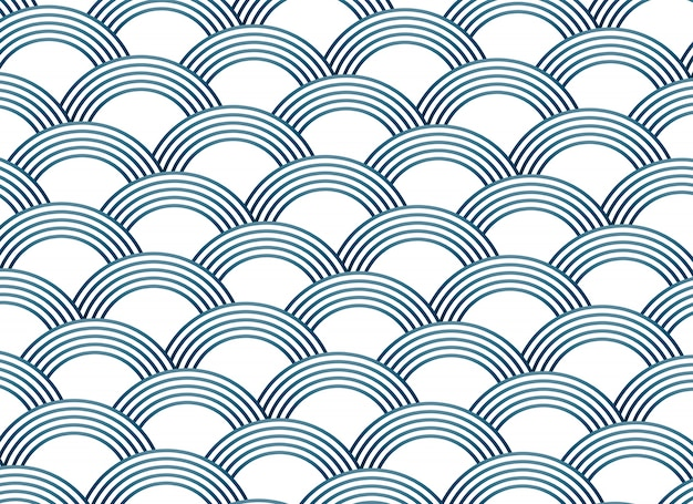 Padrão vectorial sashiko estilo abstrato