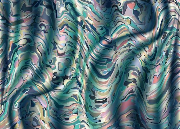 Padrão vintage com fundo de ondas em estilo aquarela