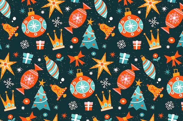 Padrão vintage de natal