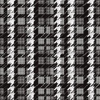 Padrão xadrez em escala de cinza
