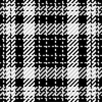 Padrão xadrez xadrez em preto e branco. fundo de tecido de textura perfeita.