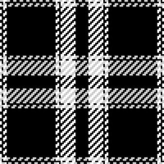 Padrão xadrez xadrez em preto e branco