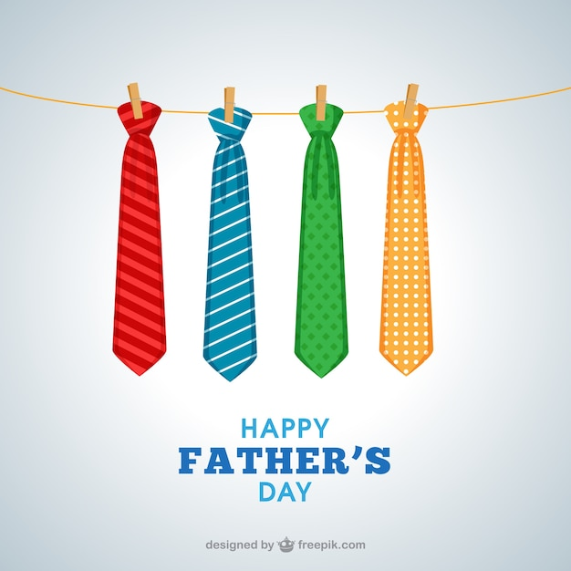 Padres cartão dia com gravatas