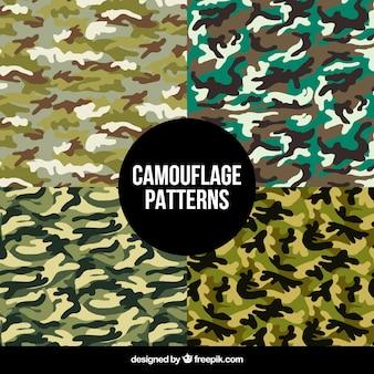 Padrões abstratos de camuflagem
