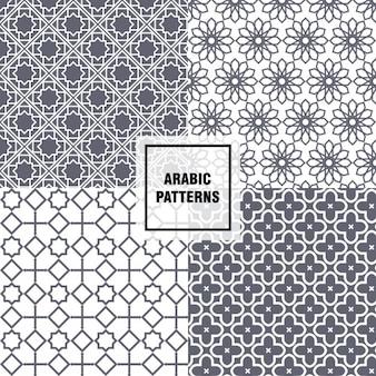 Padrões árabes cinzentos
