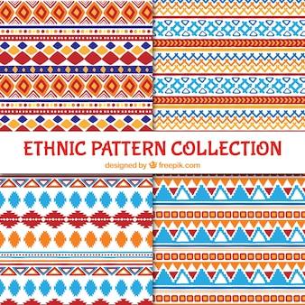Padrões coloridos étnicos