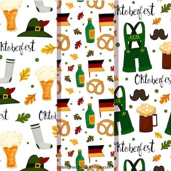 Padrões com elementos alemães tradicionais
