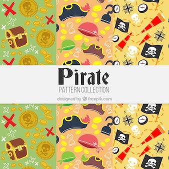 Padrões com elementos de aventura pirata