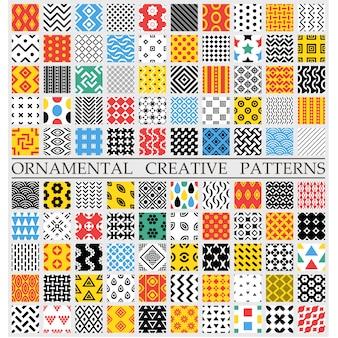 Padrões criativos multicoloridos