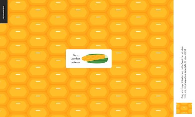 Padrões de alimentos, vegetais, milho