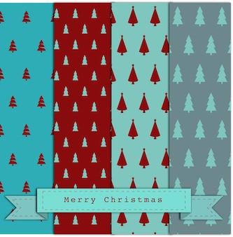 Padrões de árvores simples de natal