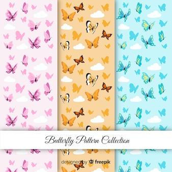 Padrões de borboletas coloridas