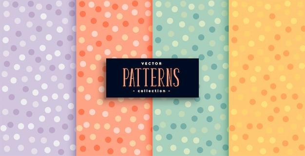 Padrões de círculos bonitos definidos em várias cores