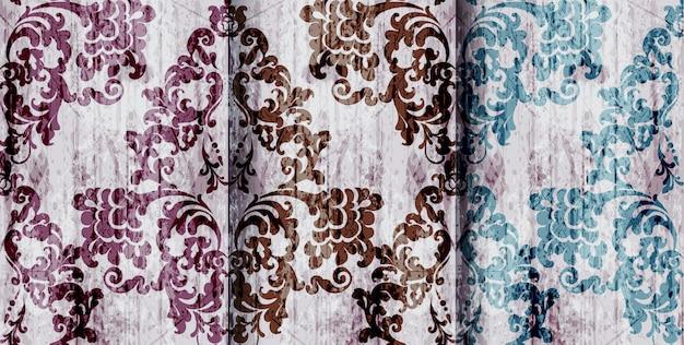 Padrões de conjunto barroco vintage