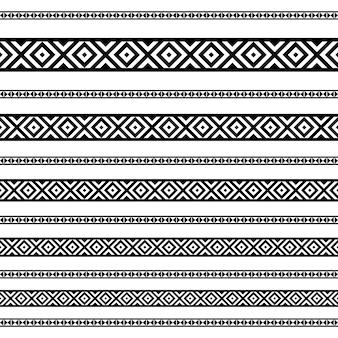 Padrões de elementos de decoração de fronteira