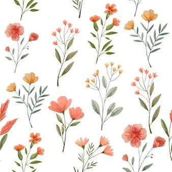 Padrões de estilo floral aquarela abstrato