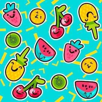 Padrões de frutas de verão