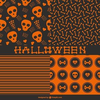 Padrões de halloween sem costura